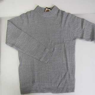 【新品】Beno ハイネック セーター グレー L (T40)(ニット/セーター)