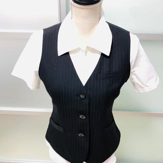 ALPHA PIER アルファピア 事務服 制服 スーツ ベスト 9号(スーツ)