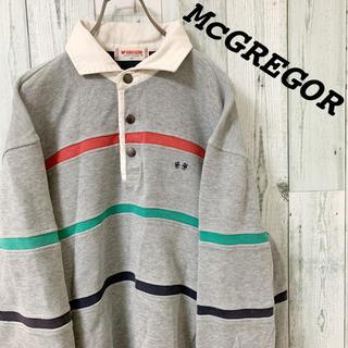 マックレガー(McGREGOR)の【希少】90s 美品 ビックサイズ マックレガー ハーフボタン スウェット(スウェット)