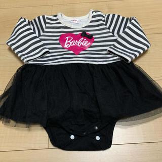 バービー(Barbie)のBarbie 裏起毛ロンパース 70(ロンパース)