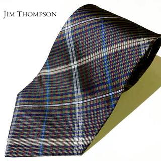 Jim Thompson - 63 美品【JIM THOMPSON】ジムトンプソン チェック柄ネクタイ