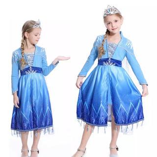 アナトユキノジョオウ(アナと雪の女王)のエルサ ドレス アナと雪の女王2❤️サイズ130(ドレス/フォーマル)