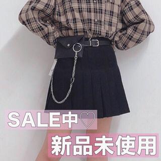 WEGO - WEGO プリーツスカート ブラック 量産型 韓国ファッション