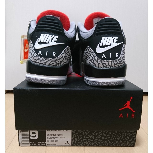NIKE(ナイキ)のNIKE AIR JORDAN 3 RETRO OG 27cm 新品未使用品 メンズの靴/シューズ(スニーカー)の商品写真