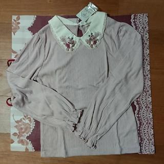 axes femme - 新品未使用タグ付き。axesfemmeガーデン襟カットソー→アワピンク