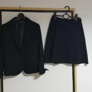 green label relaxing - 【期間限定値下げ】スカートスーツ 上下 黒(綿混)