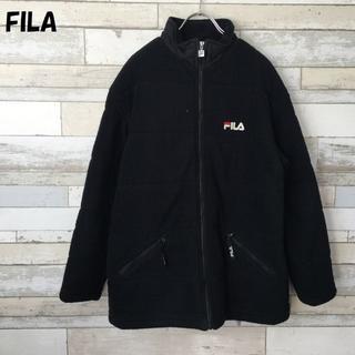 フィラ(FILA)の【人気】FILA フィラ ワンポイントロゴフリースジャケット ブラック サイズM(その他)