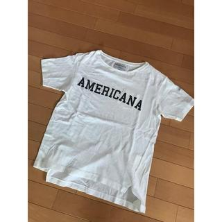 L'Appartement DEUXIEME CLASSE - アメリカーナ ロゴ Tシャツ カットソー