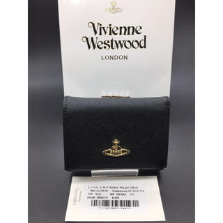 Vivienne Westwood - Vivienne Westwood ヴィヴィアン がま口 黒 折り財布 ブラック