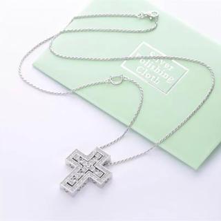 ダミアーニ(Damiani)のネックレス シルバー925 最高級czダイヤモンド クロス(ネックレス)