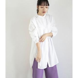 LOWRYS FARM - 【新品タグ付き】ローリーズファーム バンドカラーチュニックシャツ