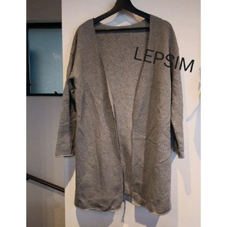 LEPSIM - LEPSIMレプシィム★サイドスリットロングカーディガン★ニットコート グレー