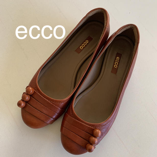 エコー(ECHO)のecco エコー フラットシューズ 茶 37 23.5cm(ローファー/革靴)