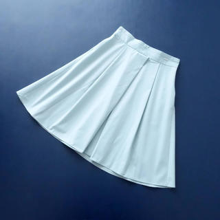 FOXEY - ■FOXEY NY■ 40 クロスデザイン ライトブルー 着やせスカート