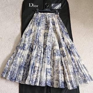 Christian Dior - DIOR トワルドジュイ コットンボイルスカート38美品