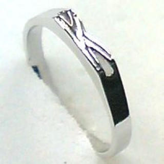 イニシャルリング♪【シルバーカラーK】シルバー925 リング 13号【日本製】(リング(指輪))