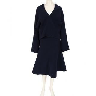 MADISONBLUE - マディソンブルー  紺 セットアップ スカート ニット