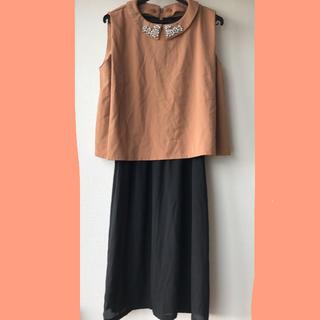 ナノユニバース(nano・universe)のナノユニバース ドレス ワンピース オレンジ(ミディアムドレス)