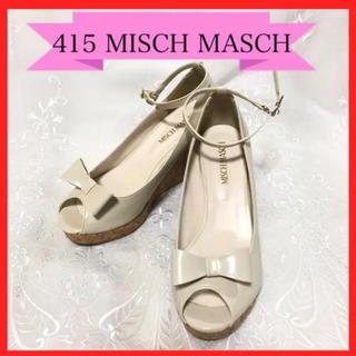 ミッシュマッシュ(MISCH MASCH)の415 ミッシュマッシュ リボン サンダル パンプス 2way L 24(ハイヒール/パンプス)