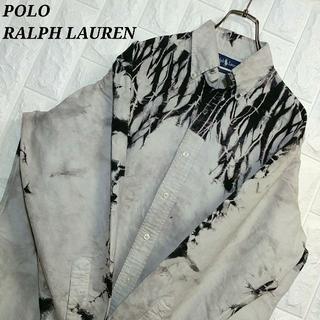 POLO RALPH LAUREN - ポロラルフローレン BDシャツ タイダイ染め リメイク古着 ワンポイント