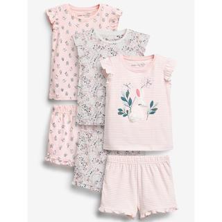 NEXT - next♡ネクスト ピンク フローラル ウサギ ショートパジャマ