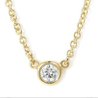 Tiffany & Co. - ティファニー バイザヤード K18YG/ダイヤ 0.08ct ネックレス