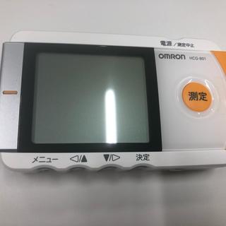 オムロン(OMRON)のオムロン 携帯心電図 値下げ受け付けます(体脂肪計)