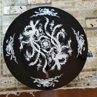 ★たくちゃん様専用★螺鈿細工 鳳凰 110cm円卓 ローテーブル(ローテーブル)