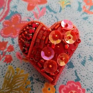 mina perhonen - パリで購入/小さなハートブローチ/バレンタイン/アッシュペーフランス