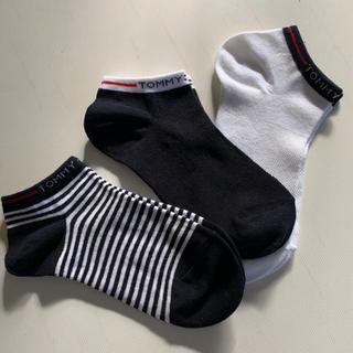 新品★トミーヒルフィガー 靴下 ソックス3足セット くるぶし丈