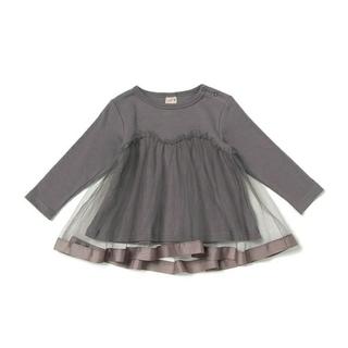 petit main - プティマイン チュールドッキングシャツ 110