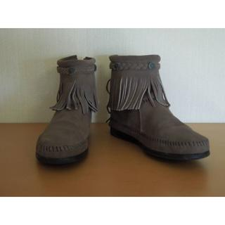 ミネトンカ バックジップショートブーツ(ブーツ)