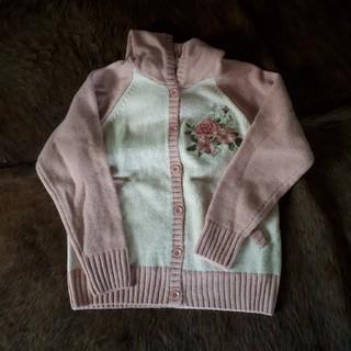 ピンクハウス バラ刺繍カーディガン