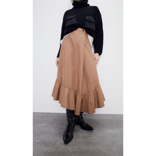 ZARA - ZARA 今期完売 新品未使用 フリルロングスカートS