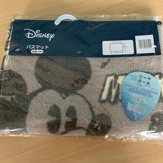 ディズニー(Disney)の【未開封・未使用】ディズニー・ミッキー柄バスマット(バスマット)
