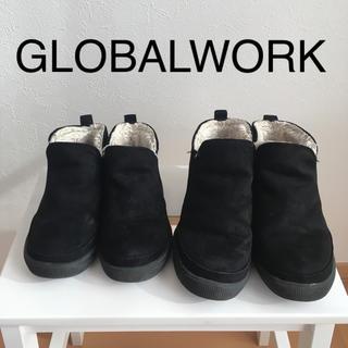 GLOBAL WORK - 【姉妹 2足セット】17cm 19cm サイドゴアブーツ  16 18  黒