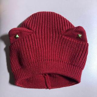 アースミュージックアンドエコロジー(earth music & ecology)の猫耳ニット帽(ニット帽/ビーニー)