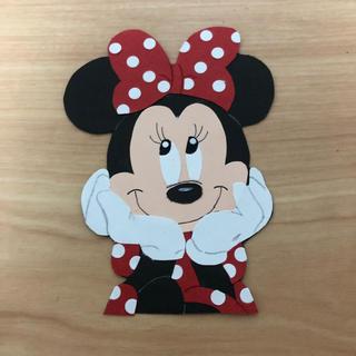 ディズニー(Disney)のオーダー専用 ディズニー風ミニーちゃん 壁面 (フォトプロップス)