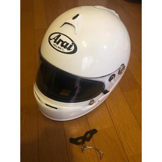 アライテント(ARAI TENT)のarai ヘルメット 美品 サイズ 54 ホワイト(ヘルメット/シールド)