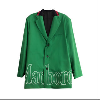 COMME des GARCONS - yoikadakada オーバーサイズ テーラードジャケット グリーン 緑