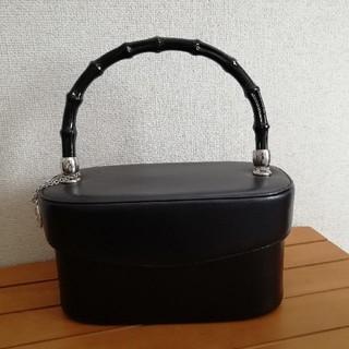 ギンザカネマツ(GINZA Kanematsu)の銀座かねまつ フォーマルバッグ黒 美品(ハンドバッグ)