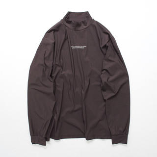 SUNSEA - Oversized High Neck LS brown Mサイズ
