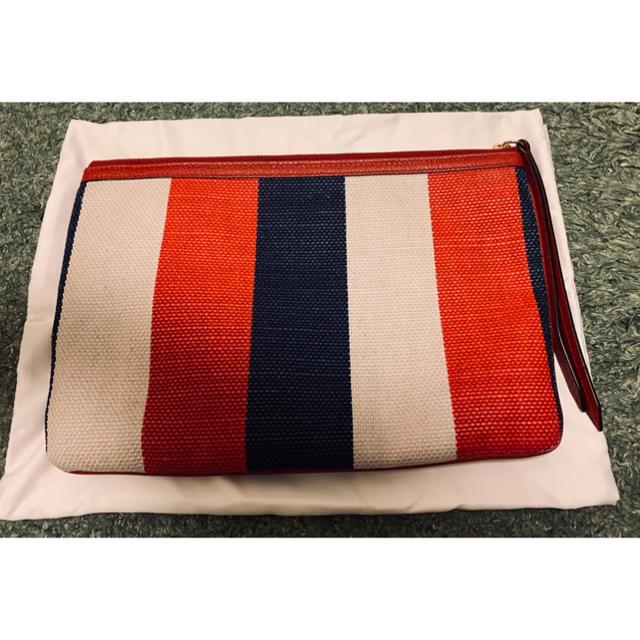 Gucci(グッチ)のSALE グッチ マルチカラーストライプ クラッチバッグ メンズのバッグ(セカンドバッグ/クラッチバッグ)の商品写真