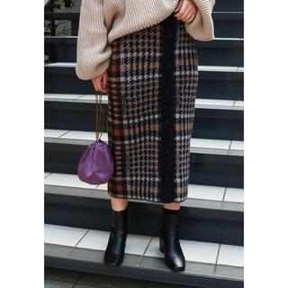 TODAYFUL - todayful チェックニットスカート