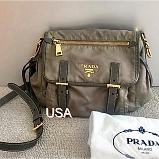 プラダ(PRADA)のプラダ 定価品 モスグリーン系 ナイロン ショルダーバッグ(ショルダーバッグ)