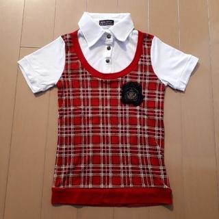 アパートメントマーケット(apartment market)のapm 女の子 半袖 チェック シャツ サイズ130(Tシャツ/カットソー)