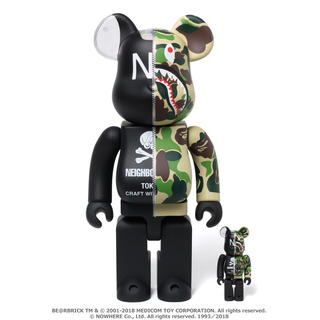 A BATHING APE - 2点 BE@RBRICK 100 & 400 BAPE NEIGHBORHOOD