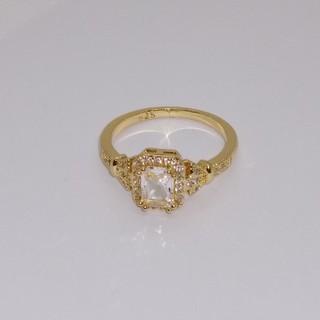 rkkm様専用 ゴールド色(透明四角) 指輪(リング(指輪))