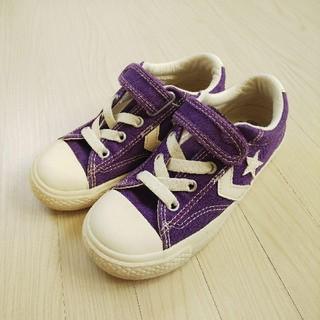 CONVERSE - CONVERSE☆キッズ スニーカー 紫色 19㎝