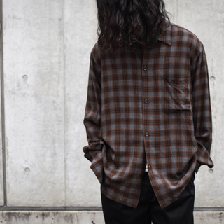 COMOLI - comoli レーヨン オープンカラーシャツ